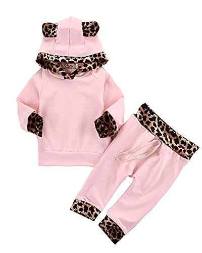Cute Baby Girls Long Sleeve Top /&Pants Clothes Set