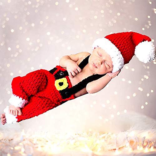 Newborn Baby Crochet Knit Photography Costume Photo Prop Xmas Shoot Hat   $