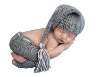Newborn Baby Crochet Knit Clothes Photo Photography Prop Costume Long Tail Hats