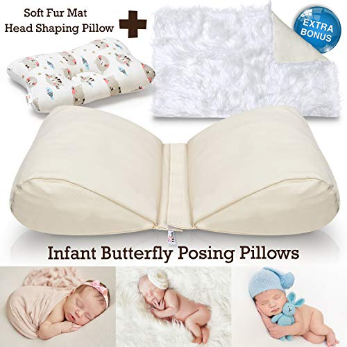 Newborn Butterfly Posing Pillow Photography Prop Plus Soft Faux