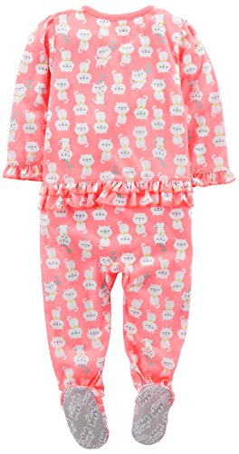 Simple Joys by Carters M/ädchen 3-Pack Loose Fit Flame Resistant Fleece Footed Pajamas 3er-Pack