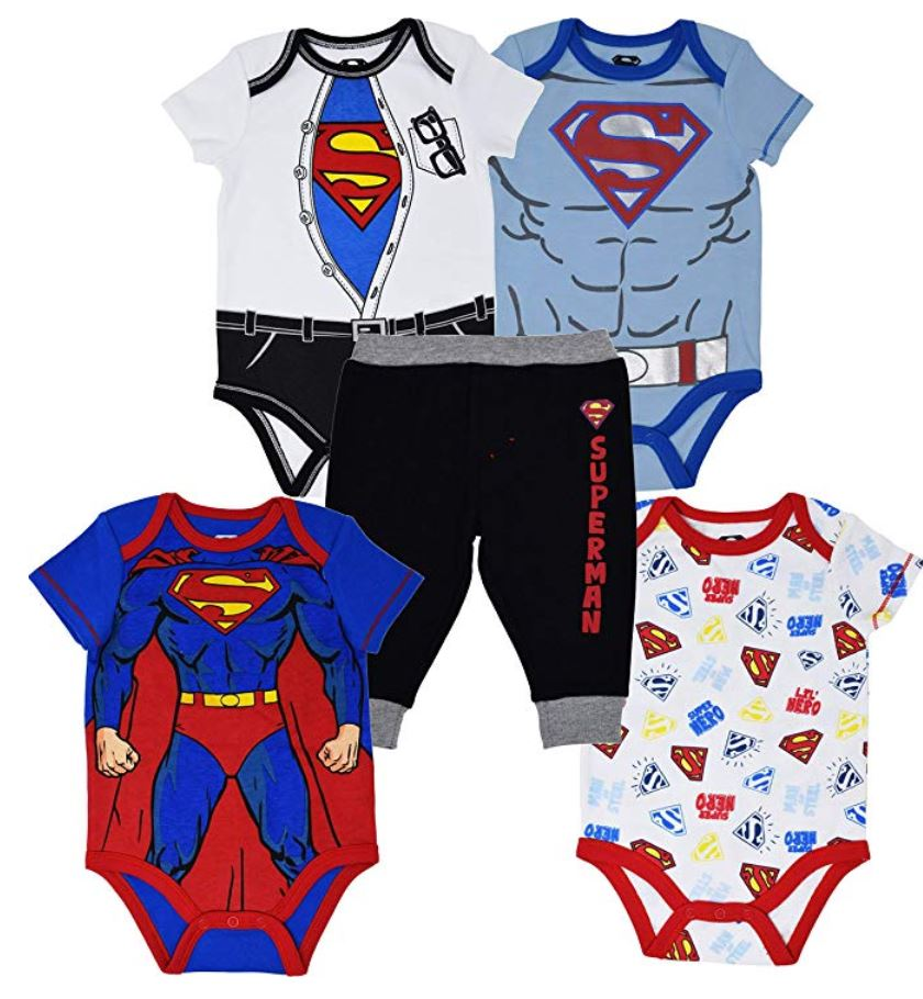boys superman 5 piece outfit
