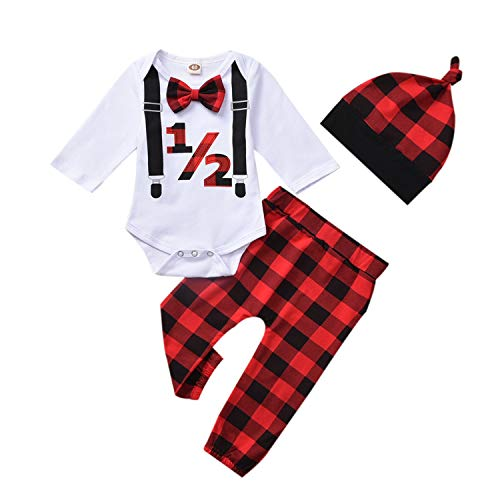 Adorable Baby Boy Half Birthday Outfit Includes Romper ...