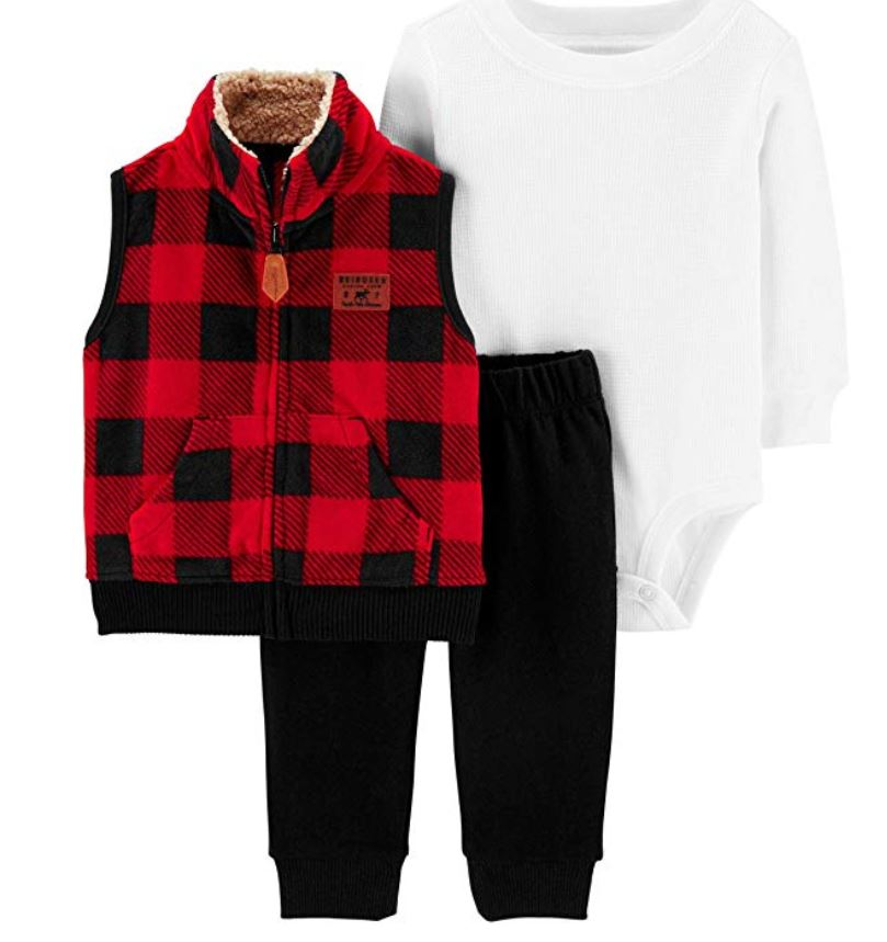 carters baby boy vest 3 piece outfit