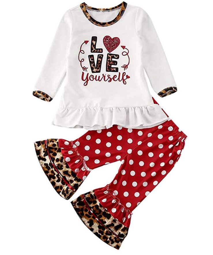 love yourself 2 piece valentines day outfit