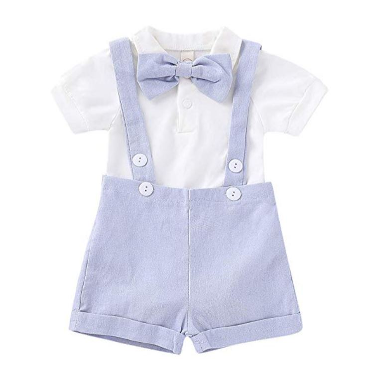 Boys Easter Overalls Outfit