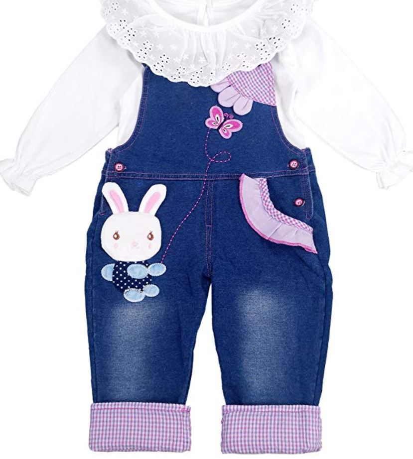 bunny overalls with top