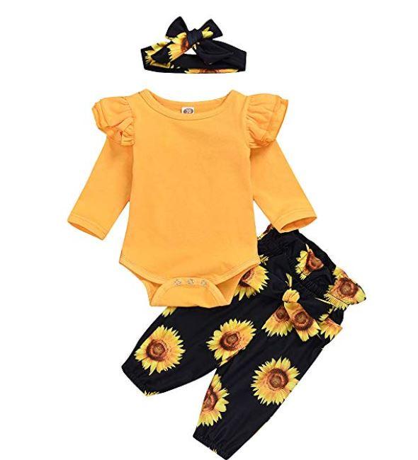 baby girls sunflower clothing