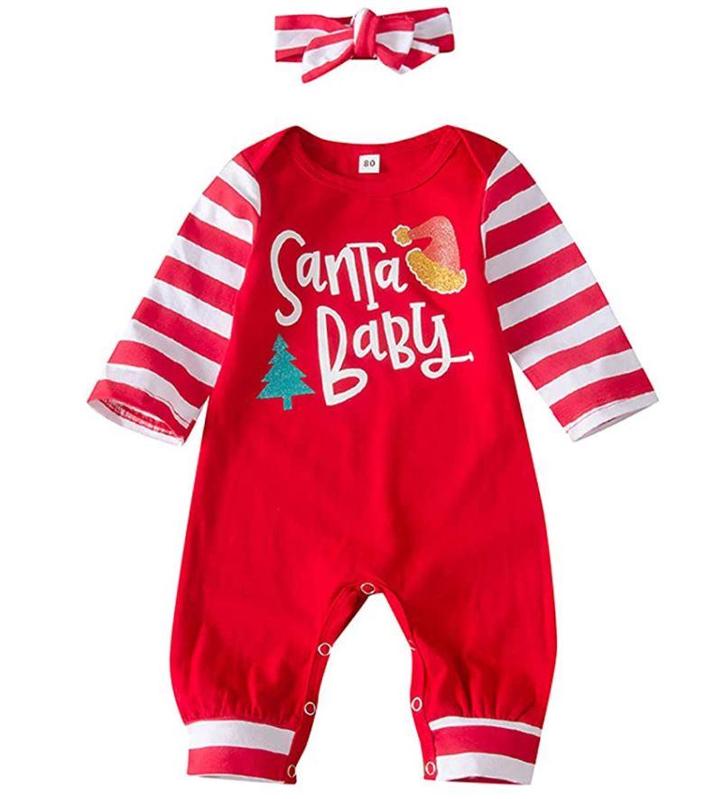 Santa baby christmas outfit