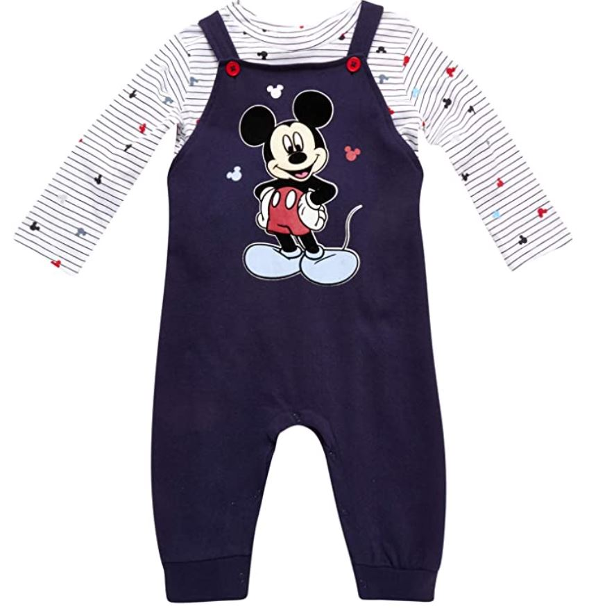 mickey mouse overall with shirt