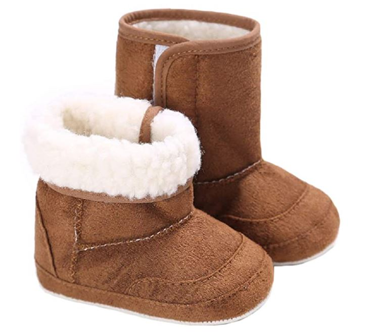 baby boy and girl warm winter boots